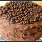 Chocolate Covered Cheerios Cake