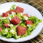 Watermelon Salad with Creamy Poppy Seed Dressing