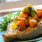 Grilled Opah with Hawaiian Sea Salt and Mango-Papaya-Avocado Salsa