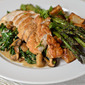 Chicken with Balsamic, Arugula, Mushrooms & Gorgonzola