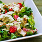 Recipe For Leftover Chicken Chopped Salad with Cafe Rio Style Creamy Tomatillo Dressing