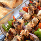 Chicken and Shrimp Kabobs with Honey Mustard Yogurt Sauce