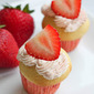 #89) Strawberry Surprise Mini Cupcakes