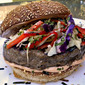 Johnsonville Brat Burger With Asian Slaw