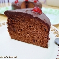 Chocolate Cake with Chocolate Ganache Topping
