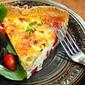Recipe for leek and mushroom quiche
