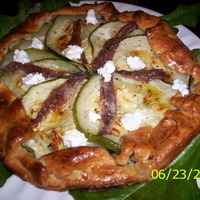 Zucchini Tart w/ Sun-dried Tomatoes and Anchovies