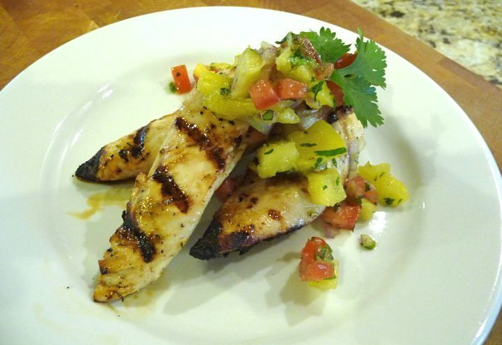 Pineapple Lime Grilled Chicken Recipe — Dishmaps