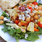 Cherry Tomato Salad with Beans, Blue Cheese and Arugula