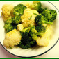 Lemon Mustard Broccoli and Cauliflower with Chives