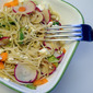 Avocado-Carrot-Radish Pasta Salad with Feta