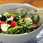Arugula, berries and goat cheese salad with poppy seed dressing recipe