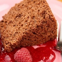 Chocolate Angel Food Cake with Teff Flour