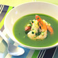Hot Days Call for Cold Soup- Spicy Cucumber Soup with Poached Shrimp & Riesling too