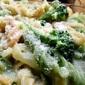 ¡Una suculenta pasta blanca en crema de brócoli!