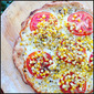 Buttery Crusted Sweet Corn and Tomato Pizza