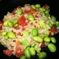 Edamame with Brown Rice and Tomatoes
