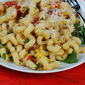 Summer Pasta With Tomatoes, Corn, Basil, Bacon & Arugula