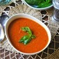 Tomato With Roasted Garlic And Basil Soup