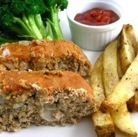Skinny Ball Park Turkey Meatloaf