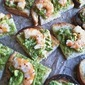 Finger Food Friday: Grilled Bread with Smashed Avocados and Shrimp