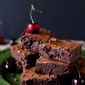 Roasted Cherry Chocolate Brownies + A Very Cute How-To Video
