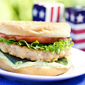 Baja Shrimp Burger Recipe with Avocado Jalapeno Aoili