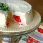 Strawberry-Stuffed Angel Food Cake
