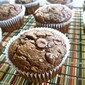 Double Chocolate Zucchini Muffins from What's Baking in the Barbershop?!