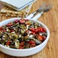 Recipe for Grilled Eggplant, Grape Tomato, and Feta Salad with Amazing Basil, Parsley, and Caper Sauce
