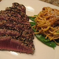 Seared Ahi Tuna with Miso Noodles Recipe