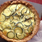 Zucchini and Caramelized Onion Quiche from Cooking Light Magazine, August 2012