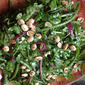 String Bean and Arugula Salad with Macadamia Nut Dressing and Marcona Almonds: Summer of Salads (and private chef musings)