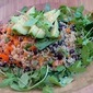 Black Bean, Avocado, Quinoa Salad with Toasted Tortilla Strips