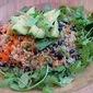 Black Bean, Avocado, Quinoa Salad with Toasted Tortilla Strips