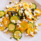 Corn and Goat Cheese Polenta with Garlicky Summer Squash