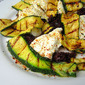 Summer Pleasures: Grilled Squash w/ Burrata & Olive Puree