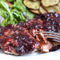 Grilled Salmon with Blueberry BBQ Sauce