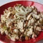 Chicken salad with mushrooms