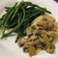 Julia Child's Chicken Supremes with Mushrooms and Cream and Green Beans