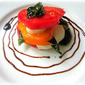 Heirloom Tomato Caprese Stacks w/ Fried Basil