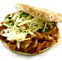 Skinny Shredded Barbecue Chicken Sandwiches, No Crock Pot Needed