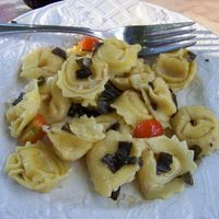 Cheese Tortellini with Purple Sage and Browned Butter