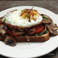 Open-Faced Sandwiches with Mushrooms and Fried Eggs from Cooking Light Magazine, August 2012