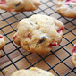 Chocolate Strawberry Cake Cookies with Orange Zest