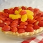 Easy Strawberry Orange White Chocolate Mousse Pie