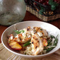 Grilled Chicken and Peaches with Green Beans and Orzo from Better Homes and Gardens Magazine, August 2012