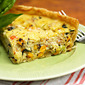 Lobster, corn and basil quiche recipe