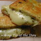 Recipe: Grilled Mozzarella Cheese and Basil Pesto