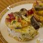 Potato Crusted Bacon Mushroom Asparagus Mini Quiches